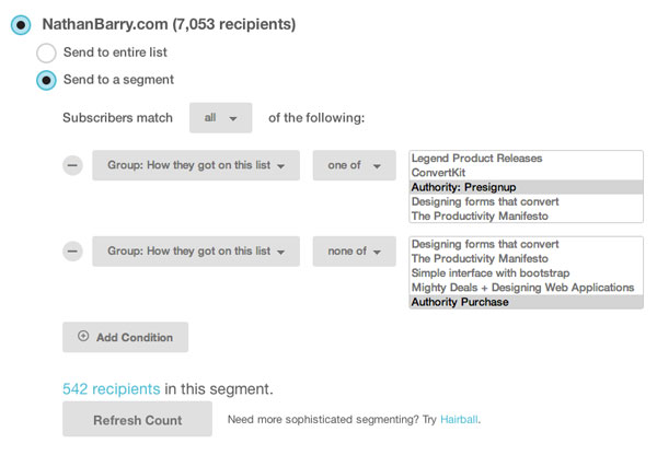 Segmenting A Mailchimp List By Signup Source